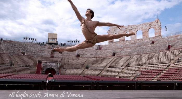 Roberto Bolle returns to the Arena of Verona with the Galà of the dance Roberto Bolle & Friends 2016