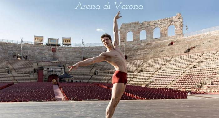 Country hotel b&B in Verona: Roberto Bolle in Arena for the gala of the dance 2017