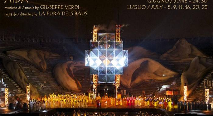 Aida at Verona, where to sleep for the opera by Verdi retabled by la Fura dels Baus