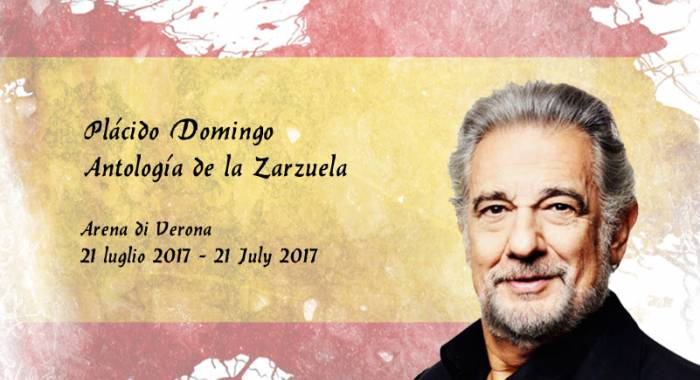 Placido Domingo in Arena, our country hotel b&b in Verona for the gala Antología de la Zarzuela