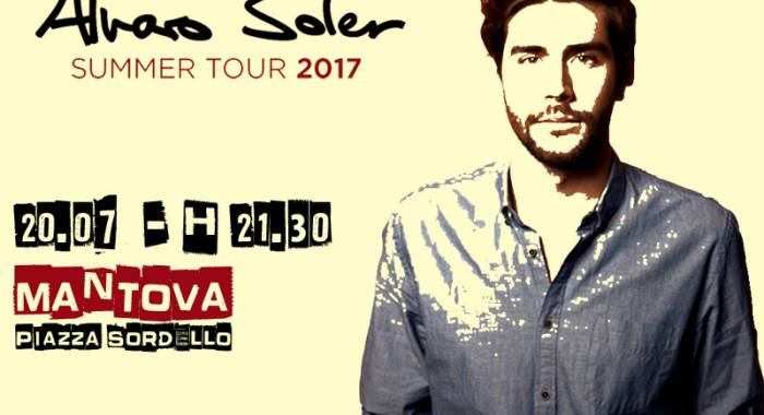 B&B for Alvaro Soler's concert in Mantua on July 20th, 2017