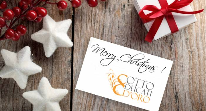 The country relais Otto Ducati d'Oro and Artegiani Family wish you a very merry Christmas and a happy new year
