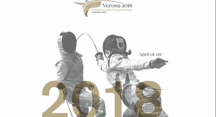 World Fencing Championship in Verona 2018: Junior and Cadets is competing next April