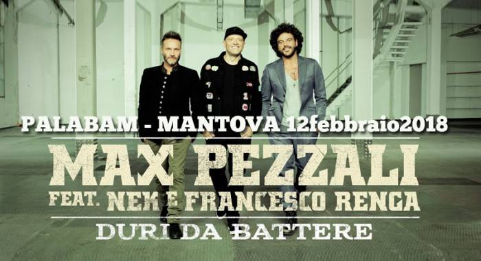 Nek, Pezzali, Renga's concert 2018 at Mantua Palabam in February
