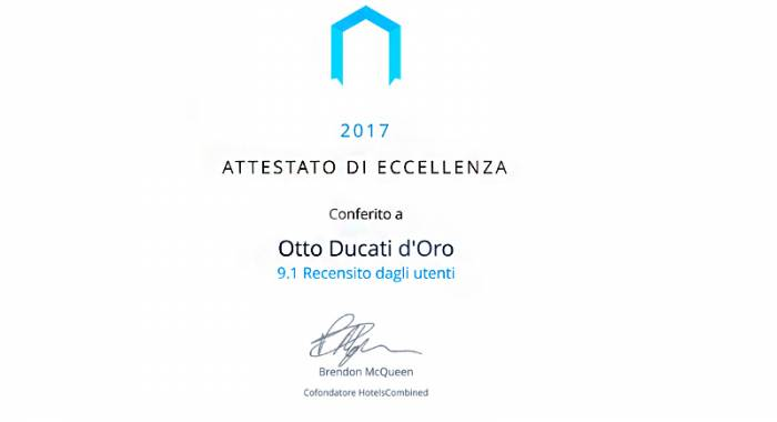 Otto Ducati d'Oro: one of the best hotel in 2017