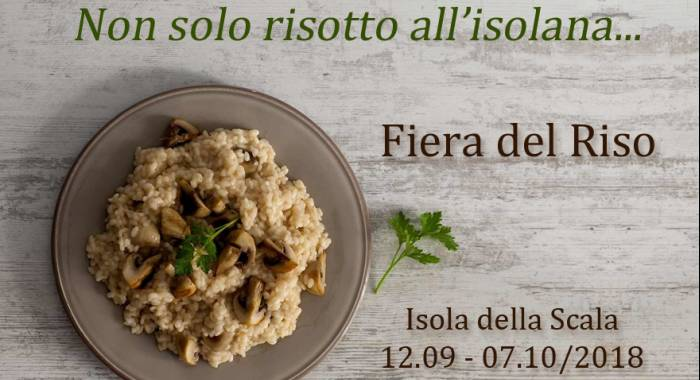 Rice Fair 2018 in Isola della Scala: our relais b&b for your relaxing time