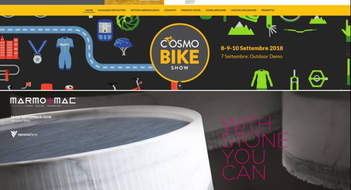 Where sleep in Verona for Cosmobike ahow and Marmomacc Fairs 2018