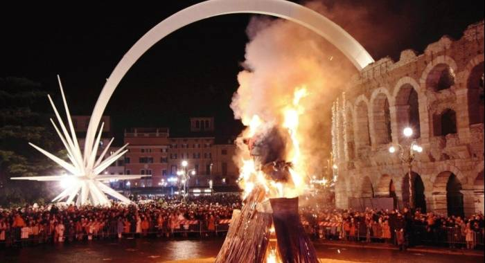 The unmissable Epiphany bonfire returns to Verona and Mantua