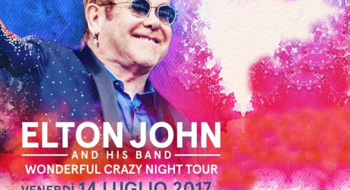 Elton John in concerto a Mantova il 14 luglio 2017