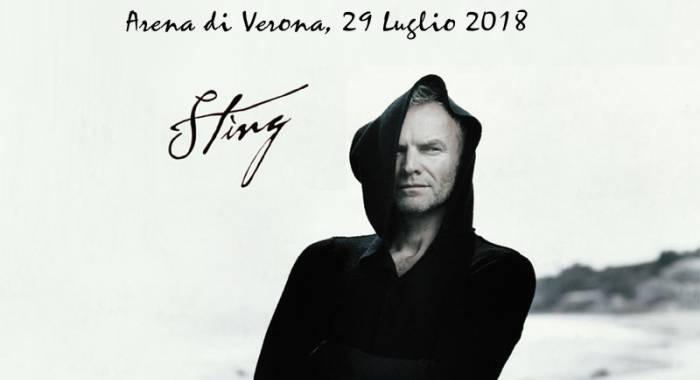 Sting a Verona dopo l'esibizione a Sanremo 2018