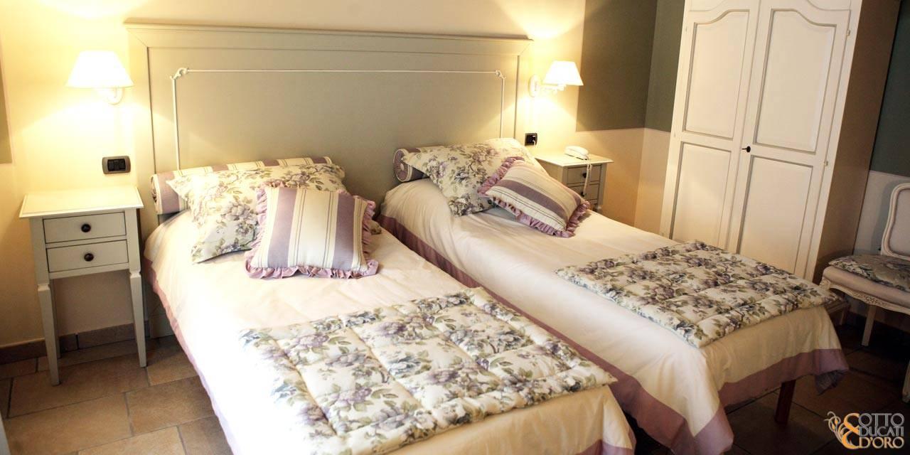 Dormire in camera doppia ad uso singola con possibilità di sistemazione a letti twin