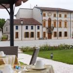 View from the Otto Ducati d'Oro hotel of Corte Emilei