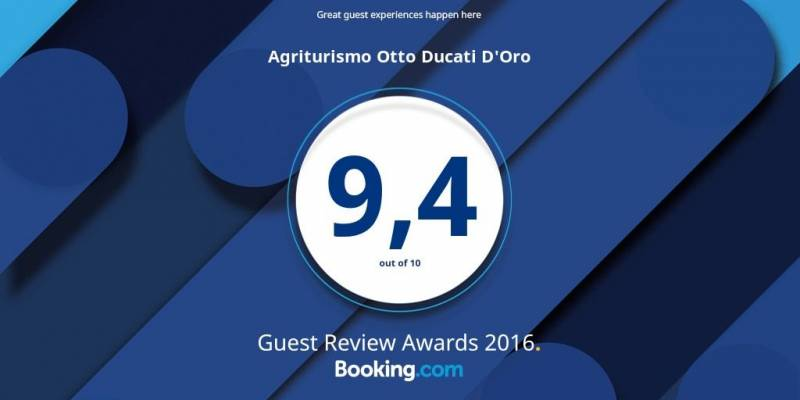 Otto Ducati d'Oro excellence award 2016 Booking.com about guests' satisfaction